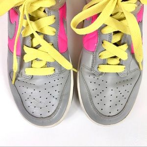 Nike Shoes - Nike Women's Dunk Low Gray Pink Leather Sneakers